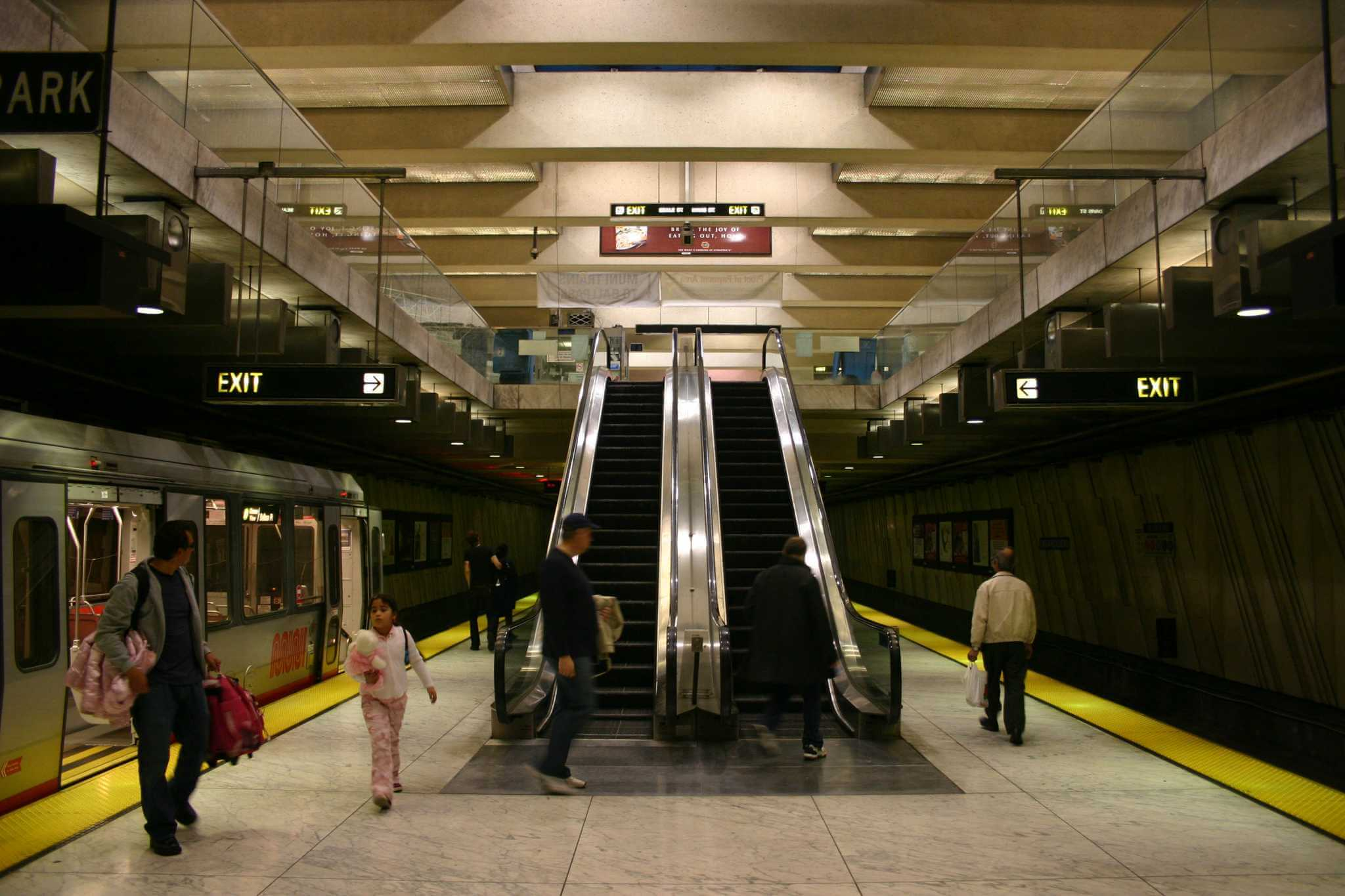 Muni Van Ness Station platform