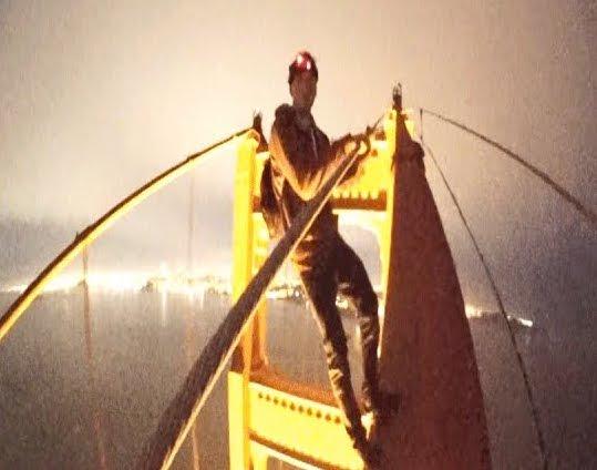 Golden Gate Bridge climbers
